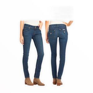 Hudson Jeans Dark Wash Mid-Rise Stretch Jeans
